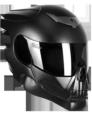 buy motorcycle skull helmet hells rider nlo. Black Bedroom Furniture Sets. Home Design Ideas